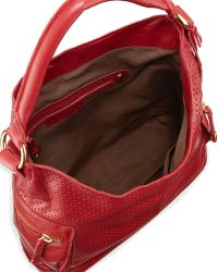 Linea Pelle - Dylan Perforated Leather Hobo Bag - Lyst