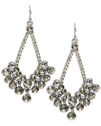 Catherine Stein - Pave Chandelier Earrings - Lyst