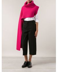Thakoon One Sleeved Ribbed Sweater - Lyst