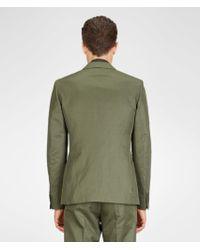 Bottega Veneta Dark Sergeant Refined Ramie Cotton Suit - Green