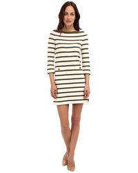 Kate Spade Stripe Boatneck Dress - Lyst