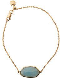 Monica Vinader - Gold Vermeil Aquamarine Capri Chain Bracelet - Lyst