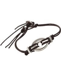 Catherine Zadeh - Cord Bracelet with Silver Element - Lyst