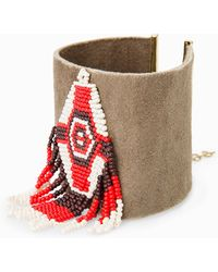 Mango Beads Leather Bracelet - Lyst