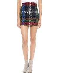 DSquared2 City Mini Skirt Green Red Blue - Lyst