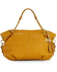 Big Buddha Clove Quilted Faux Leather Tote yellow - Lyst