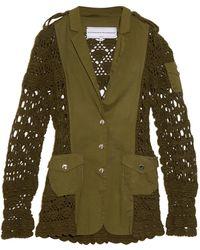 Michaela Buerger Miss Sahara Crochet-Panel Jacket - Natural