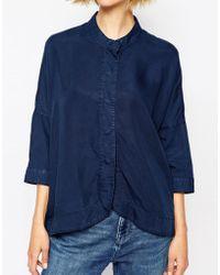 WÅVEN Oversized Kimono Shirt - Blue