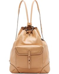 Rag & Bone Nougat Leather Grayson Backpack - Lyst