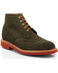 Mark McNairy New Amsterdam Green Wingtip Boots - Lyst