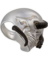 Theo Fennell | Two-tone Snake & Skull Ring | Lyst