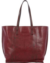 Zagliani Python & Leather Reversible Tote - Lyst