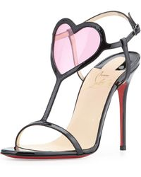 Christian Louboutin Cora Heart Red Sole Sandal - Lyst