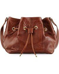 Lauren Merkin Peyton Leather Bucket Bag - Brown