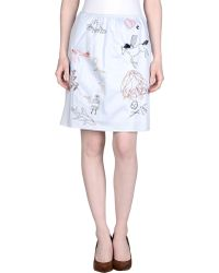 Carven Knee Length Skirt blue - Lyst