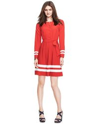Tommy Hilfiger Pleated Dress - Lyst