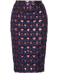 Burberry Prorsum Metallic Brocade Pencil Skirt - Lyst