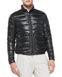 Moncler Acorus Puffer Moto Jacket - Lyst