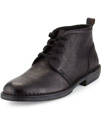 Andrew Marc Greenwich Leather Chukka Boot - Lyst