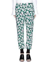 Stella McCartney | Margarita Flower Print Crepe Pants | Lyst
