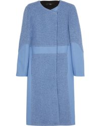 Tibi Paneled Woolblend Coat - Lyst