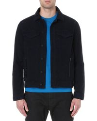 J Brand Cotton Jacket Navy - Lyst
