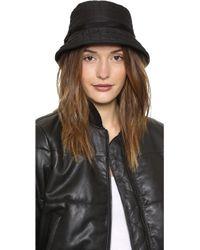 Kate Spade Logo Bucket Hat Black - Lyst
