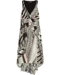 Roberto Cavalli Printed Silk Crepe De Chine Dress - Lyst