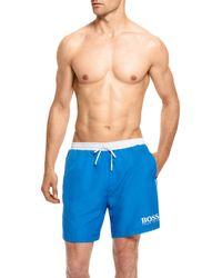 Hugo Boss Starfish Bm  Quick Dry Swim Trunks - Lyst