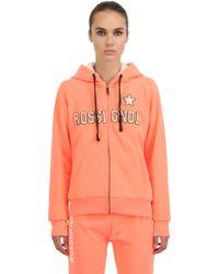 Rossignol Hooded Stretch Cotton Blend Sweatshirt - Orange