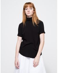 Assembly New York Reverse T Neck black - Lyst