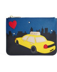 DKNY Flat Zip Taxi Clutch - Lyst