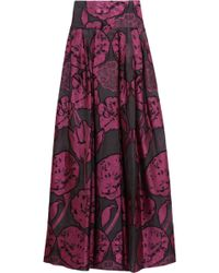 Temperley London Tula Fil Coupe Floral-embroidered Organza Maxi Skirt - Lyst