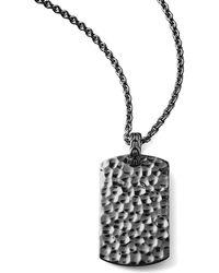 John Hardy Blackened Palu Tag Necklace - Lyst