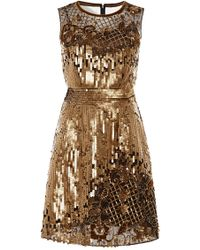 Alberta Ferretti Embellished Tulle Dress - Lyst