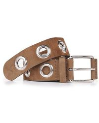 Gucci Suede Belt With Eyelets brown - Lyst