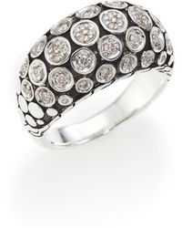 John Hardy | Dot Diamond & Sterling Silver Dome Ring | Lyst