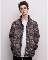 Pull&Bear Camouflage-Print Jacket - Lyst