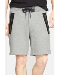 Marc By Marc Jacobs - 'luke' Leather Trim Sweat Shorts - Lyst