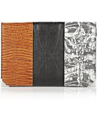 Alexander Wang Prisma Skeletal Compact Wallet In Embossed Tricolor With Rhodium - Lyst