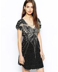 Sugarhill Heart Butterfly Dress - Black