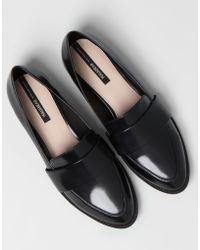 Pull&Bear Black Basic Loafers - Lyst