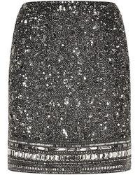 Harrods - Embellished Mini Skirt - Lyst