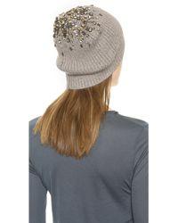 Club Monaco Darci Hat - Light Heather Grey - Lyst