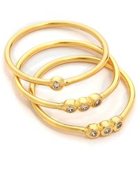Gorjana - Shimmer Midi Ring Set Gold - Lyst