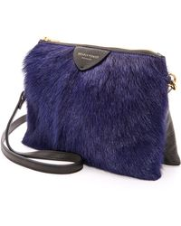 Deadly Ponies | Mr Siamese Fur Cross Body Bag Cobalt | Lyst