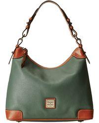 Dooney & Bourke Pebble Leather Hobo - Lyst