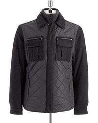 Michael Kors Contrast Quilted Jacket - Lyst