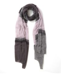Quinton-chadwick - Light Pink Cloud Ombre Fine Wool Scarf - Lyst