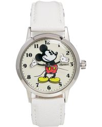 Disney - White Mickey Mouse Ingersoll Classic Watch - Lyst